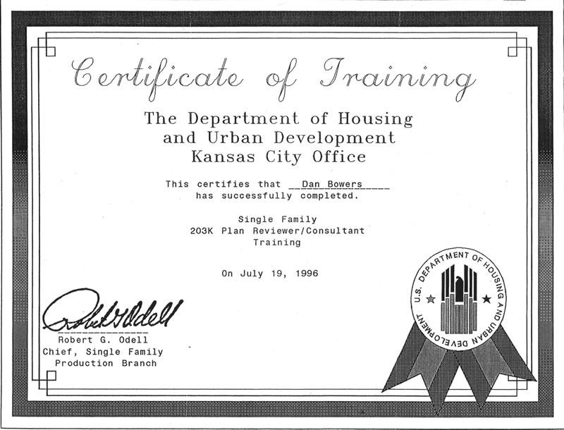 203k Certifications